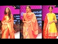 Models In Traditional Wear At Lakme Fashion Week 2014 | Ramp Walk