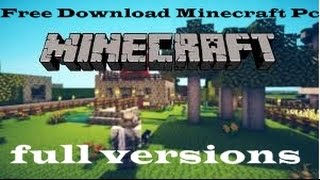 Free Download Minecraft Pc Windows xp Full Versions