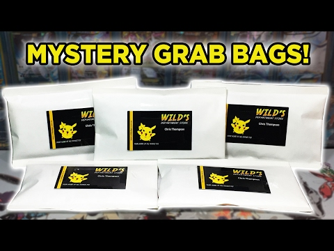 NEW PRODUCT! 5x Pokemon Mystery Grab Bag Opening!! - Wilds Department Store Exclusive