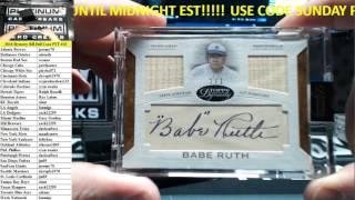 2016 Topps Dynasty Baseball Full Case PYT #10 BABE RUTH CUT AUTO WOWOWOWOW