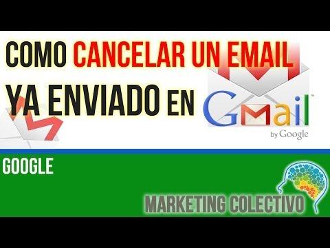 Como Cancelar un email enviado en Gmail