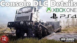 SpinTires Mud Runner: Two New Trucks Explained! CONSOLE DLC DETAILS!