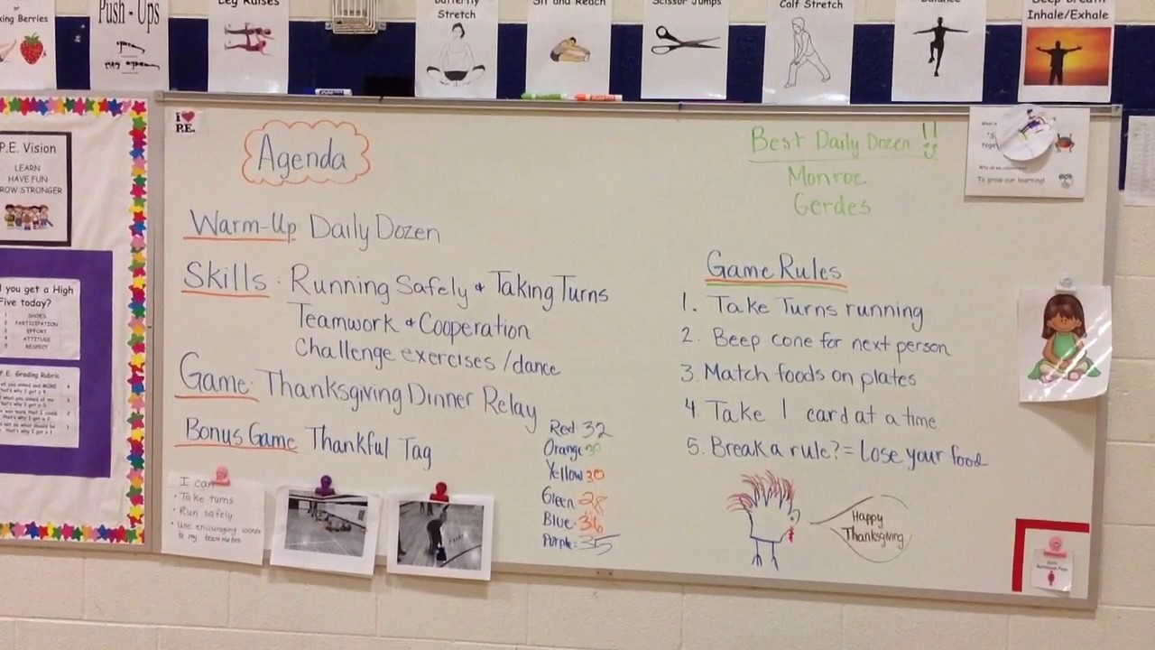 Relay Race For Pe Thanksgiving Youtube Basic Rules