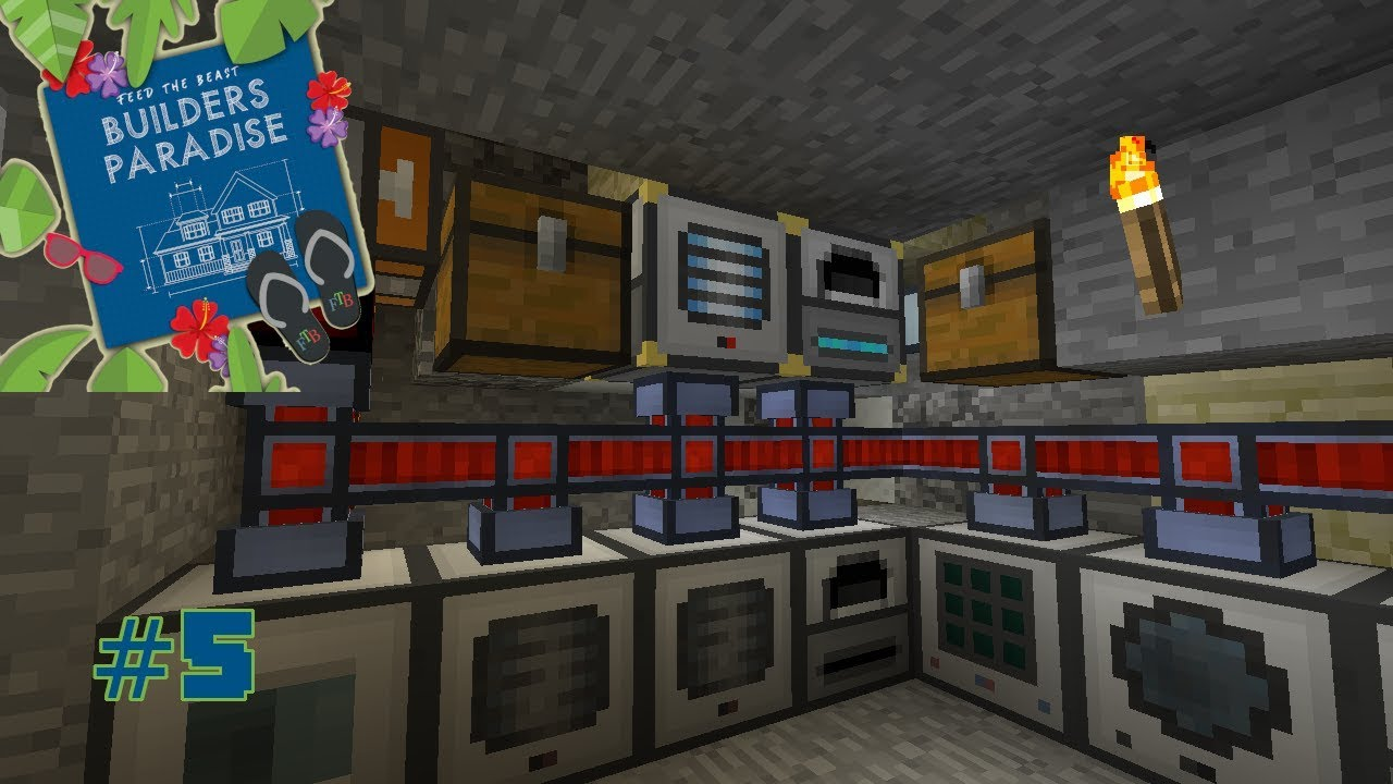 FTB Builders Paradise :: #5 :: Induction Smelting & Ore Processing