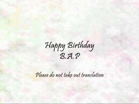 B.A.P - Happy Birthday [Han & Eng]