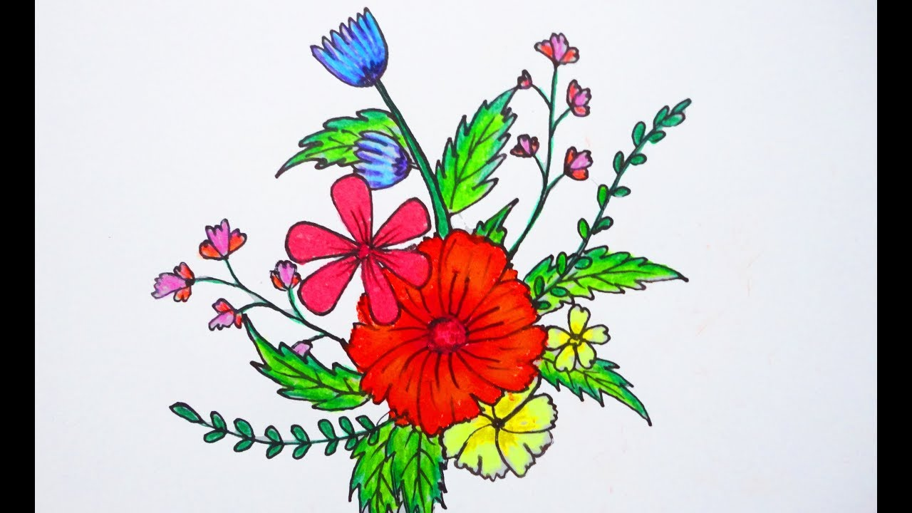 Beautiful flowers drawing ii how to draw beautiful flowers