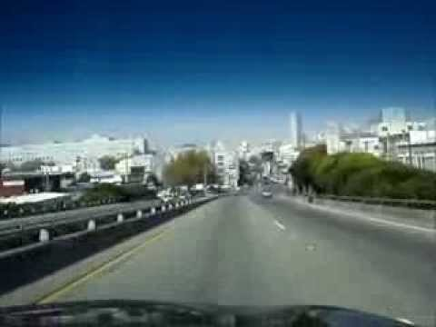 Driving Towards San Francisco From Daly City, California