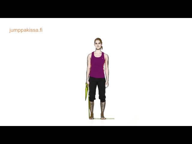 Kuminauhajumppa auttaa yläselkäkipuihin, osa 2