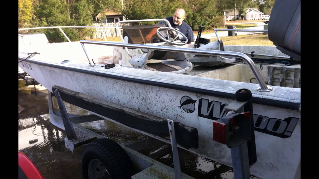 1985 WAHOO 16 2 Side Console w 90 hp Mariner a $200 Father Son