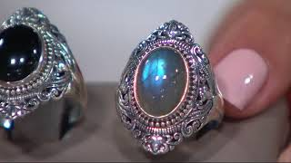 Artisan Crafted Sterling Silver Bold Cabochon Gemstone Ring on QVC