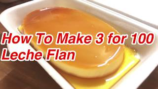 3 FOR 100 LECHE FLAN - How to make Leche flan Using Whole Eggs