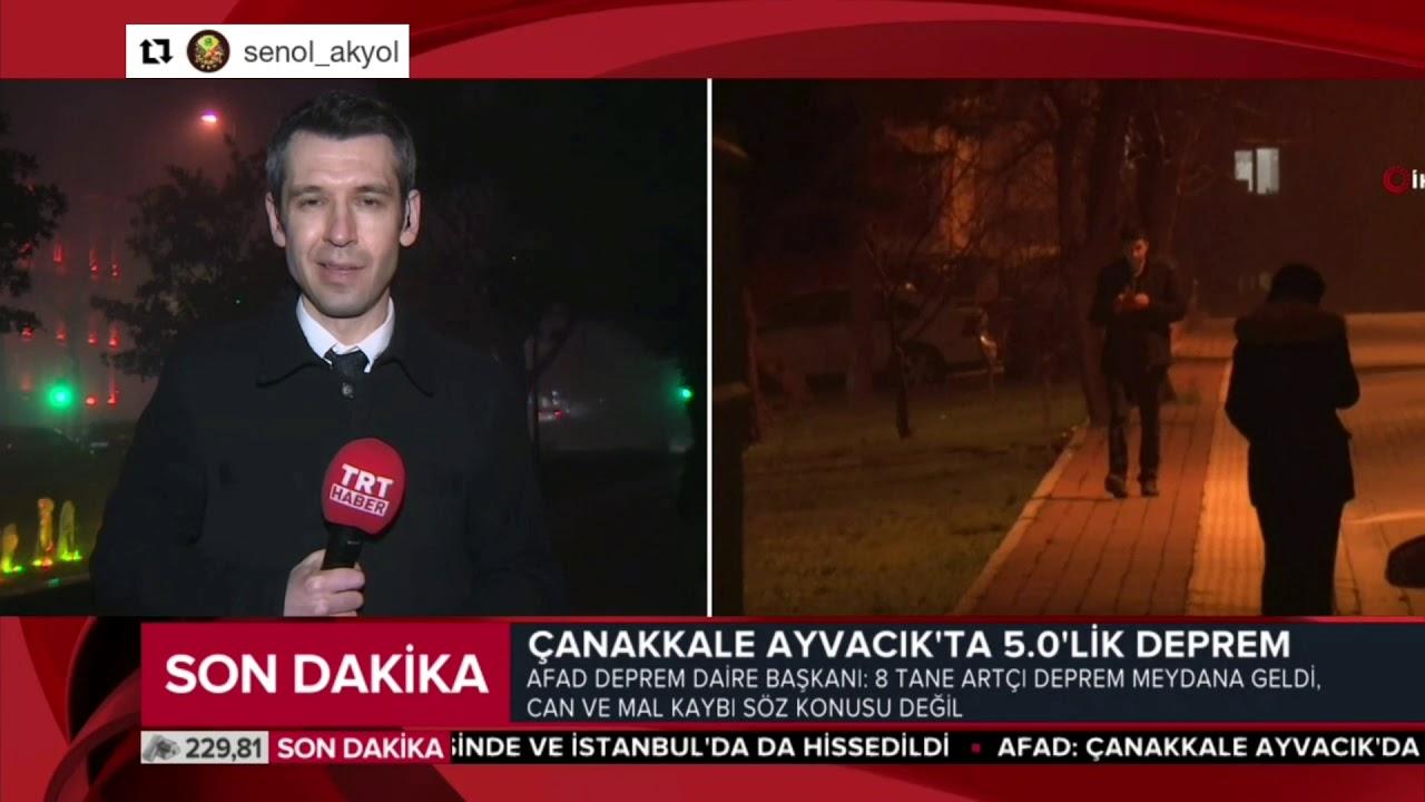 Çanakkale Ayvacık'ta 5.0 büyüklüğünde deprem oldu ve İstanbul'da da hissedildi.