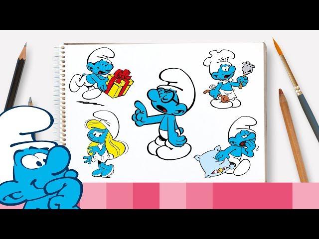 Hoe teken je Brilsmurf en zijn vrienden • De Smurfen