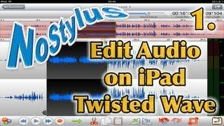 Twisted Wave iPad Audio Editor - Part 1