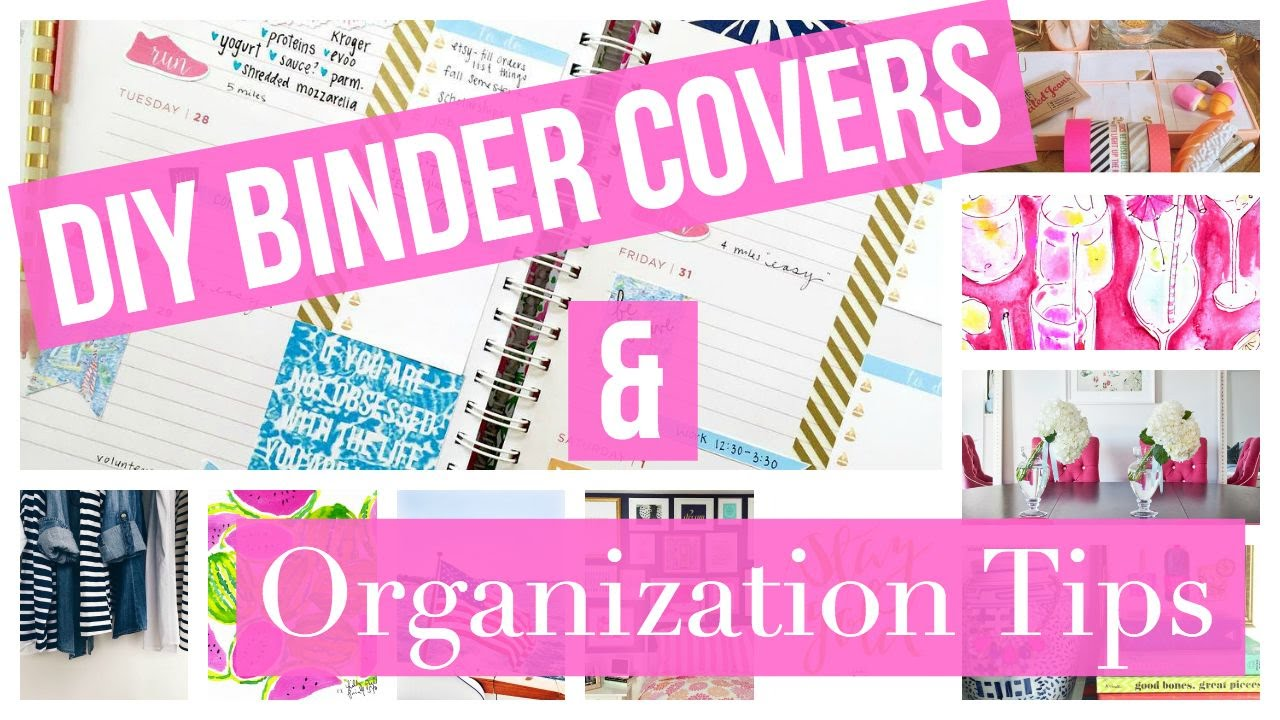 Diy Binder Covers Binder Organization Tips For Back To School 2015