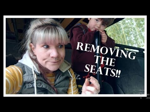 Eagle Bus to RV Conversion Project!! Removing the Seats!!