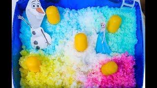 Tìm Trứng Khủng Long Bất Ngờ Trong Khu Vườn Tuyết Màu Sắc | Kem Cam TV