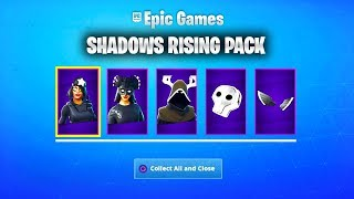 The SHADOWS RISING Pack in Fortnite... *NEW* SHADOWS RISING SKIN BUNDLE in Fortnite!