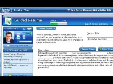 Resume Building Software - YouTube
