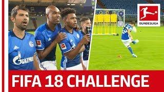 Naldo, Coke, McKennie & Co. - EA SPORTS FIFA 18 Bundesliga Free Kick Challenge - FC Schalke 04 thumbnail