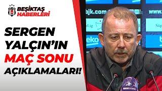 Beşiktaş Teknik Direktörü Sergen Yalçın Basın Toplantısı Düzenledi! Beşiktaş 3 - 0 Kasımpaşa