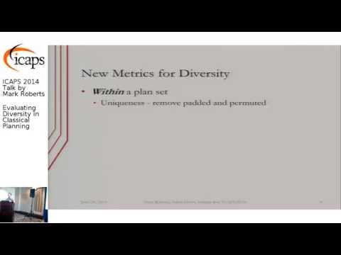 "ICAPS 2014: Mark Roberts on ""Evaluating Diversity in Classical Planning"""