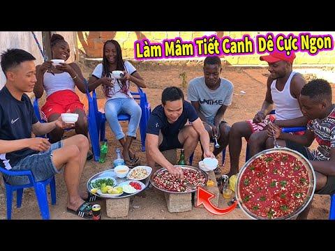 Ẩm Thực Châu Phi || Làm Mâm TIẾT CANH DÊ KHỔNG LỒ Để Người Dân Châu Phi Ăn Thử và ... Cái Kết