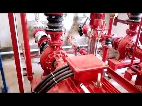 Mekanikal Elektrikal di Project Bank Bengkulu. Ruang Pompa, Genset, Test Sprinkler dan Hydrant.