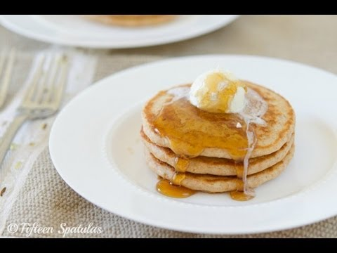 The BEST ever 100% Whole Wheat Pancakes Breakfast Recipe
