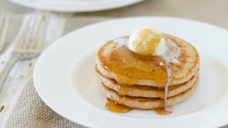 The BEST ever 100% Whole Wheat Pancakes - Breakfast Recipe