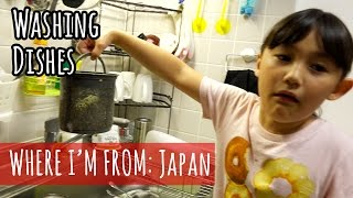 Washing Dishes in Japan
