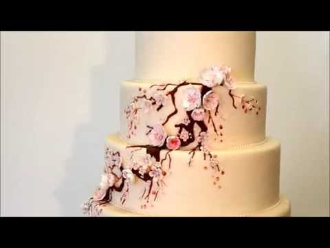 Beautiful Personalized Wedding Cake Toppers Tiny Cheap Wedding Cakes Clean Square Wedding Cakes 5 Tier Wedding Cake Young Best Wedding Cake Recipe BrightWedding Cake Cutter Cherry Blossom Cake   Wedding Cake Ideas   Pink Cherry Blossom ..