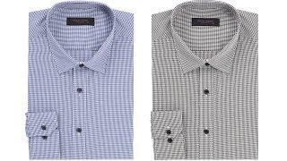 남자 와이셔츠 긴팔 슬림핏 정장 체크 셔츠 오마샤리프