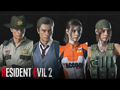 Resident Evil 2 REMAKE - All DLC Costumes and Weapons (Deluxe Edition & Pre Order Bonus)
