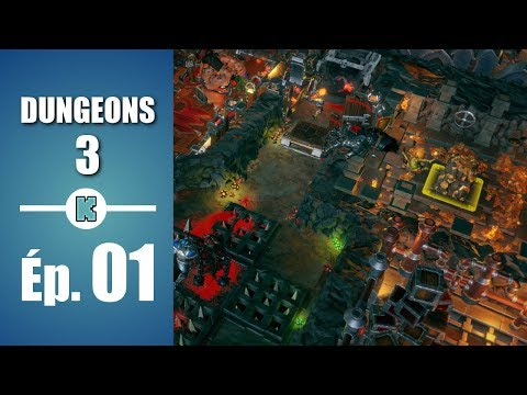 [FR] DUNGEONS 3 PC gameplay découverte de la campagne - Dungeon Keeper like -  ép 1