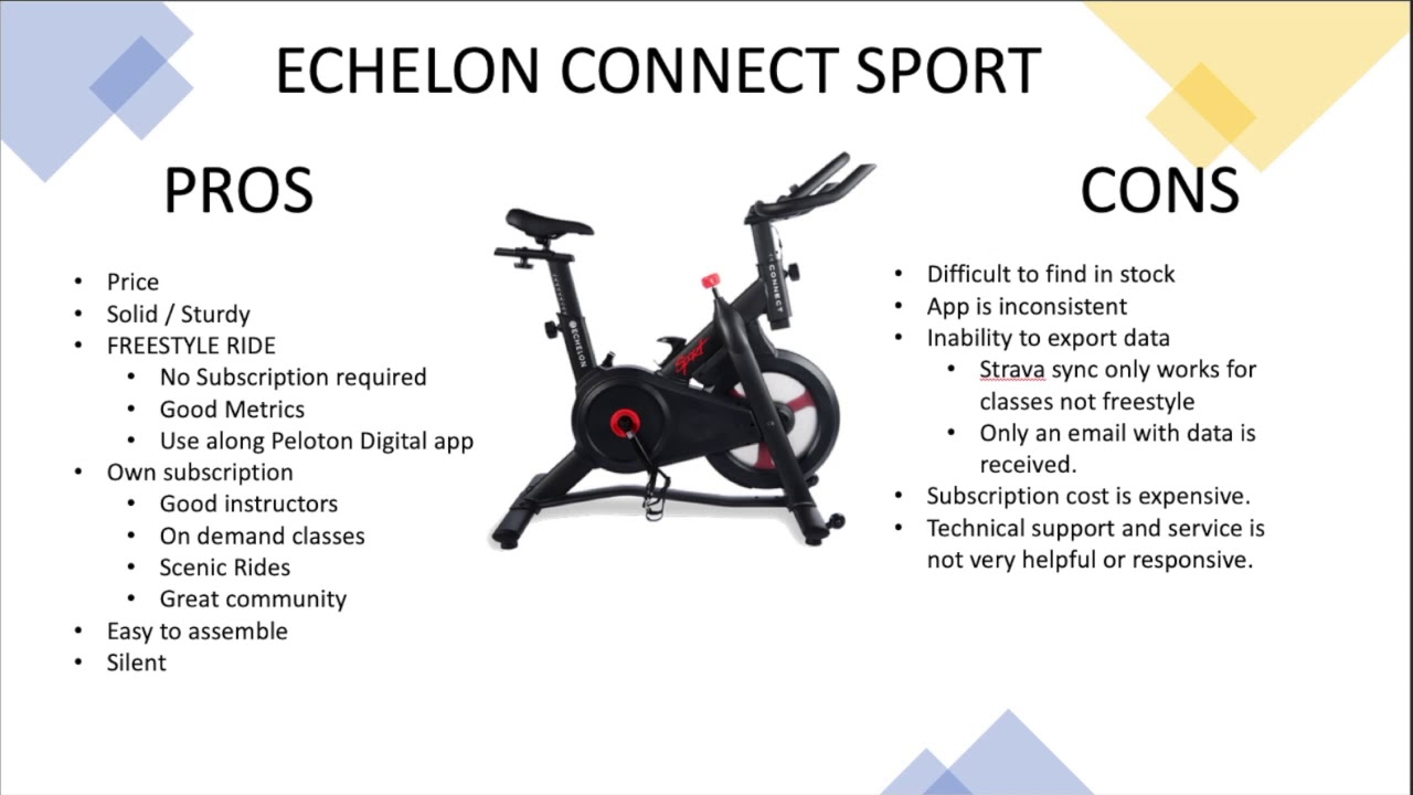 Echelon Connect Sport Review Youtube