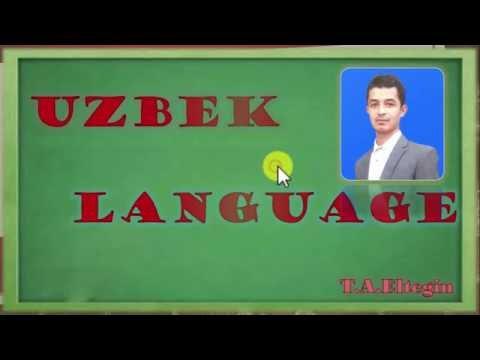 Learning Uzbek language -- Uzbek alphabet 1