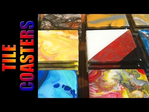 tile-coasters-|-diy-resin-coasters-|-acrylic-pour-coasters
