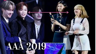 Download Mp3 Twice Jihyo and Kang Dainel Sweet Moment Reaction at Asia Artist Awards 2019