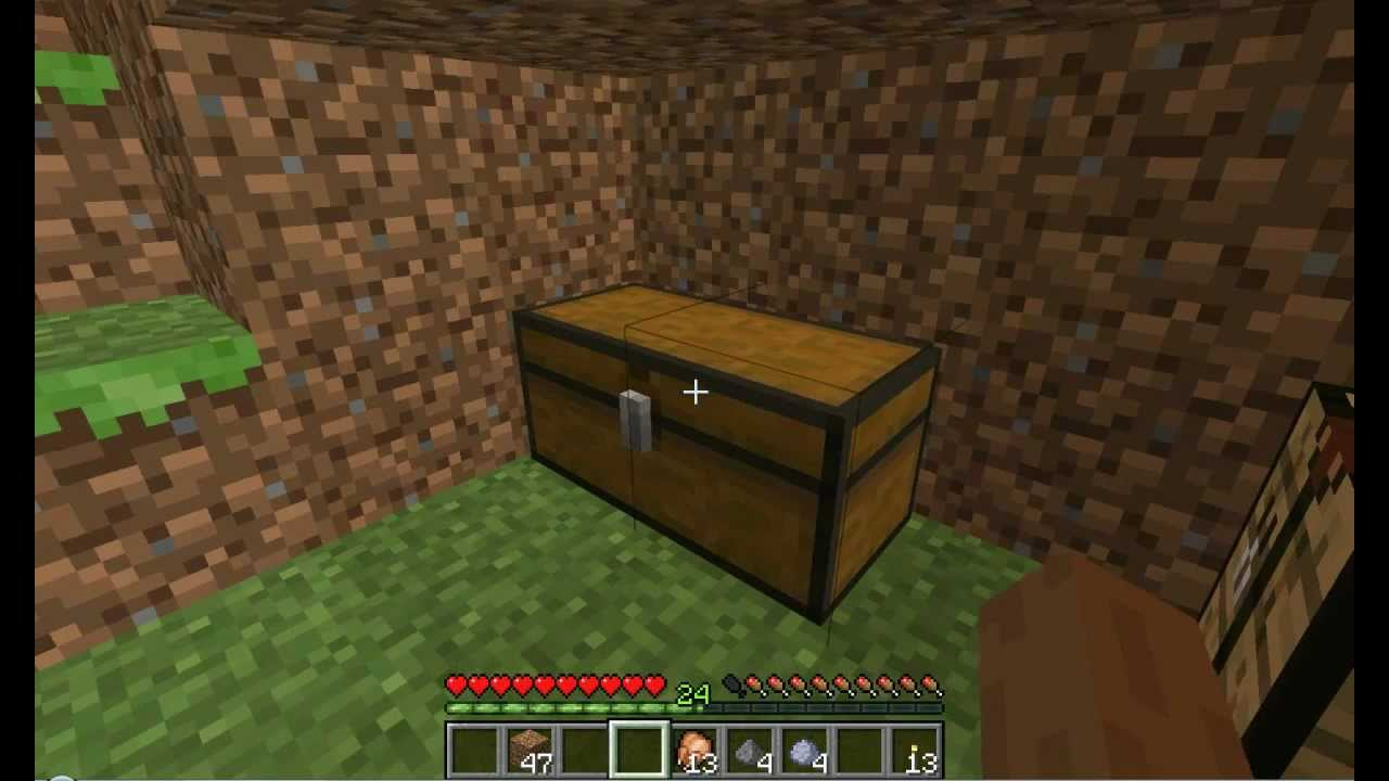 Minecraft How To Make A Chest And Double Chest Ep4