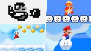 Evolution of Sky Levels in 2D Super Mario Games (1985 - 2019)