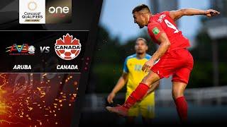 HIGHLIGHTS   Aruba v Canada - CONCACAF Men's World Cup Qualifiers (Qatar 2022)