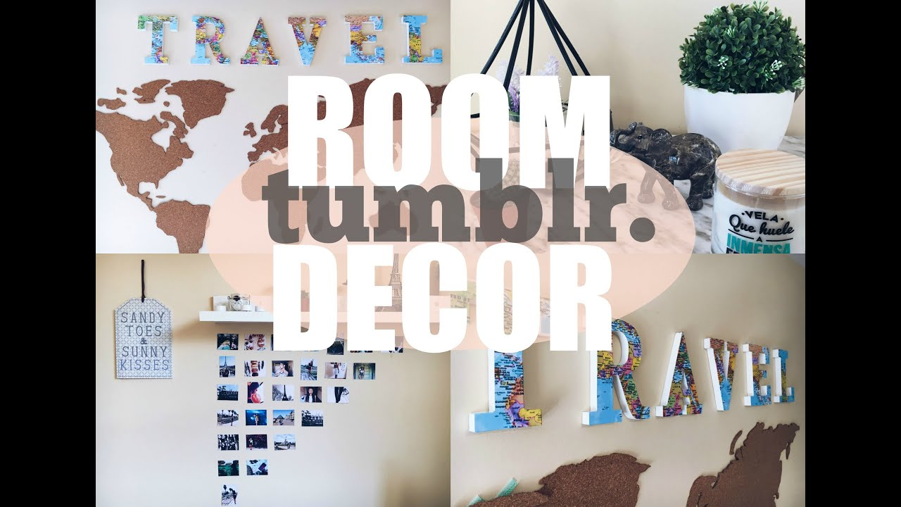 Diy tumblr room decor diy decora tu cuarto habitaci n for Como se decora una habitacion
