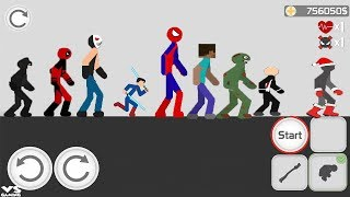 Stickman Backflip 3 Funny Android GamePlay For Kids Open Boxes With Super Heroes