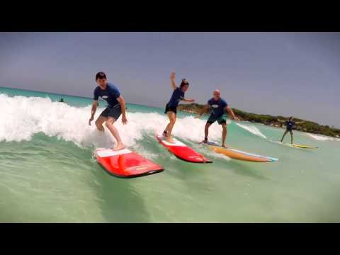 SURFING IN PUNTA CANA. MACAO SURF CAMP