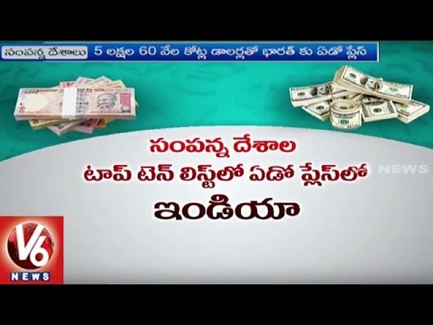 India Ranks 7th Richest Country In 2016 | World Wealth List | V6 News