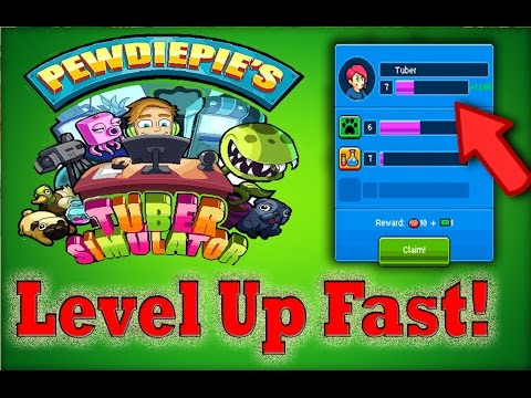 How To Level Up Fast In PewDiePie's Tuber Simulator | How to Play!