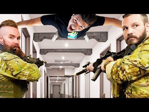 SWAT Team Hide and Seek in a $100,000,000 Hotel!