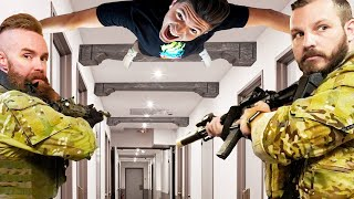 SWAT Team Hide and Seek in a $100,000,000 Hotel!