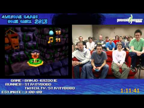 Banjo Kazooie - SPEED RUN 100% in 2:34:56 by stivitybobo (Awesome Games Done Quick 2013) N64